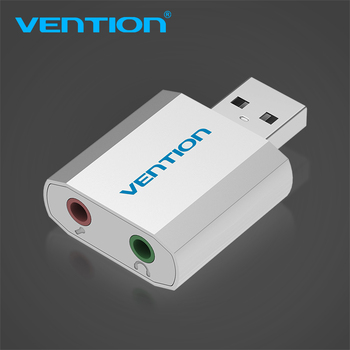 Vention USB To 3.5mm Jack External Sound Card With Microphone Headset Adapter Aux Audio Card for Computer Speaker Earpiece PS4 Звуковая карта