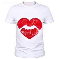 MOR CERF 2016 Neue Mode Lässig Printed Red Lips männer T-shirts Marke Sommer Kurzarm Lose Spitze T-shirt 48 #