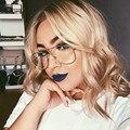 Marca de Lujo de la vendimia Gafas Lente Transparente Gafas Mujeres Gafas de Marco de Oro Hombres Montura de gafas Gafas de Lectura Marcos de Anteojos Piloto