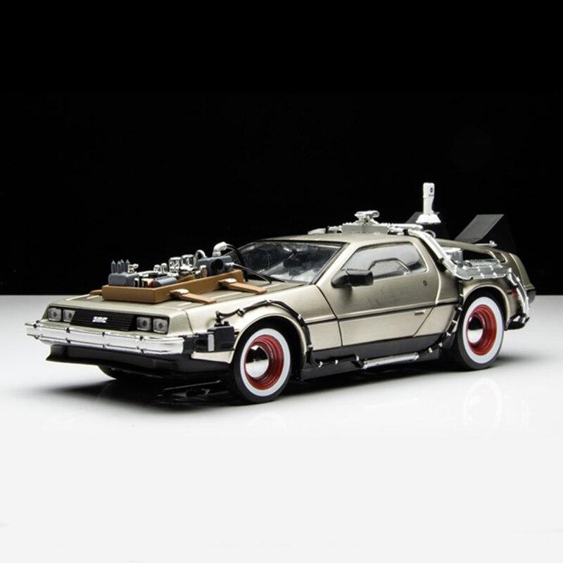 Retour à la Future voiture 1:24 moulé sous pression pièce de voiture 1 2 3 Time Machine DeLorean DMC-12 modèle pas cher enfant enfants modèle de voiture jouets