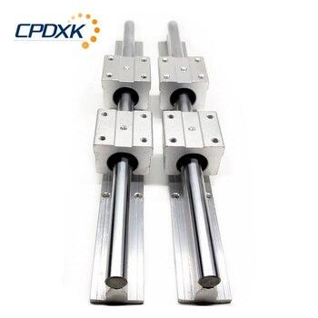 2 Pçs Trilho Linear Sbr20 Guia Linear 1000mm 20mm Trilhos Lineares 4 Peças Sbr20uu Rolamento De Esferas Bloco Cnc Roteador