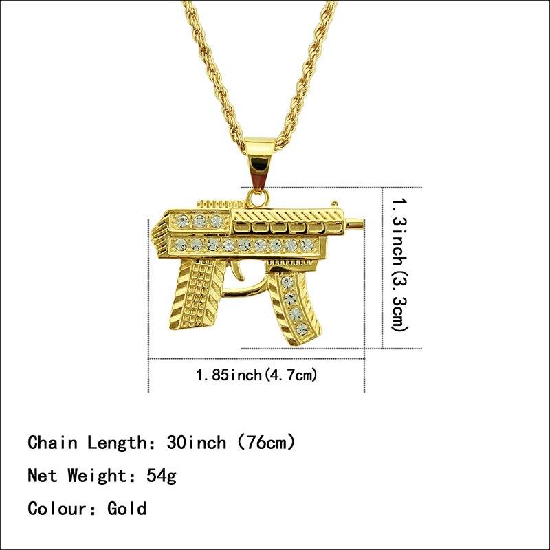 Хип-хоп ювелирные изделия Модные золотые длинные цепочки ожерелья для женщин и мужчин персонализированные буквы Орел молитвенный знак карта кулон ожерелье - Окраска металла: N060