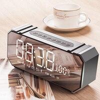 JY Audio LED Alarm Clock Portable Bluetooth Speakers Wireless Stereo Support AUX TF Radio FM USB