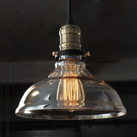 American Vintage Pendant Lights Iron White Glass Hanging Bell Pendant Lamp E27 110V 220V For Dinning
