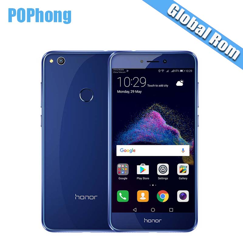 Original Huawei Honor 8 Lite 4GB RAM 64GB ROM 5.2 Inch 3000mAh Multi Language 12.0MP Camera Mobile Phone Hisilicon Kirin 655