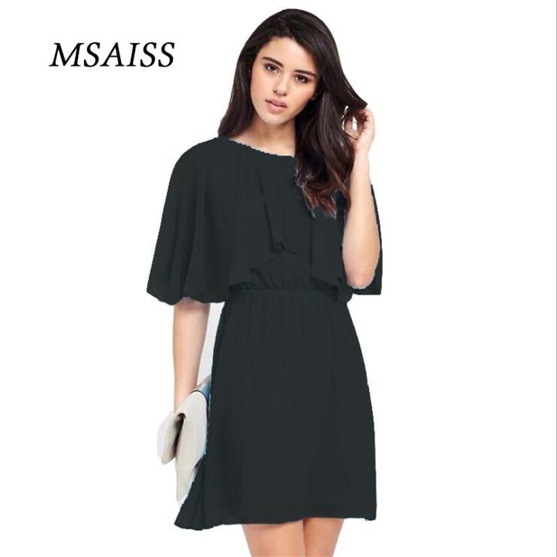 MSAISS Wanita Musim Panas Gaun 2017 Gaun Pesta Hitam Wanita Gaun - Pakaian Wanita - Foto 2