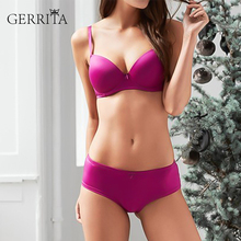 GERRITA New Lace Everyday Bh Womens 3/4 Cup Coverage Triangle Contour T-shirt Bra Adjustable Girls Pure Color 2 Strappy Bras