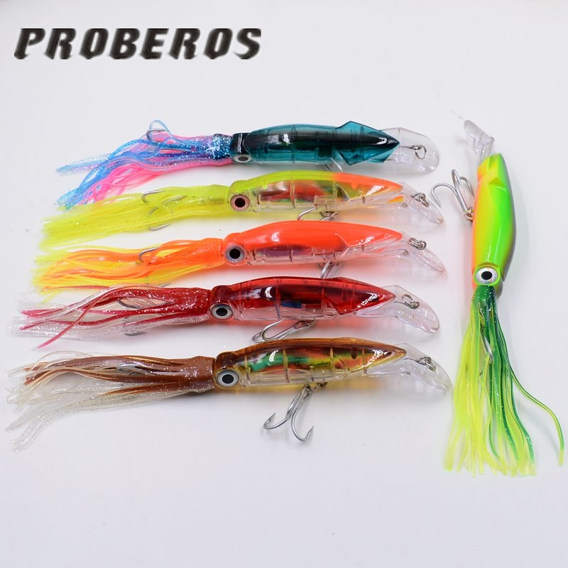 Hot sell new 1PCS 6colors Artificial Octopus baits Hard Minnow 3D Eyes attract big fish lures Wobbler Tackle Accessory tools ...