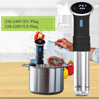 1000W 110 120V US/210 240V EU Digital LCD Touch' Screen Sous Vide Precision Cooker Black Stainless Steel Sous Vide Style Timing'