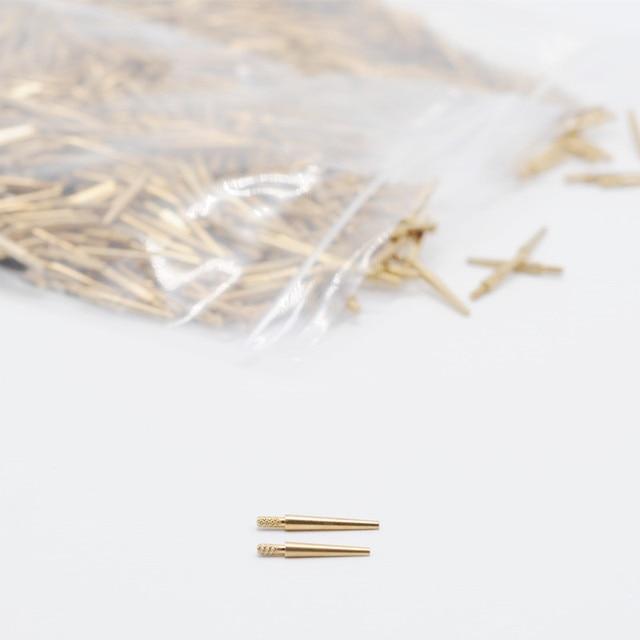 Fournitures de laboratoire en laiton goujons dentaire moyen moule plâtre outil broche 1000 pièces pour laboratoire de dentiste