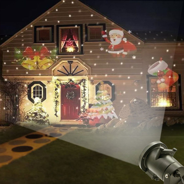 12 patterns halloween decoration projector light outdoor garden waterproof lawn snowflake landscape lamp christmas holiday party