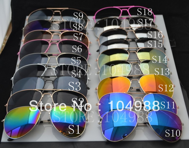 FREE SHIPPING 2015 New Arrival Men Women Loved Unisex Fashion Sunglasses Mirror Sunglasses 25 Colors High Quality Low Price