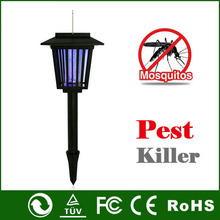 Solar Power Electric Mosquito Killer lamp Outdoor Pest Bug Zapper Moth Wasp Fly