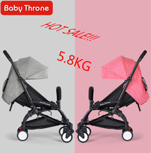 Baby Throne Travel Baby Stroller bebek arabasi Kinderwagen 175 Degrees Portable Foldable Light Stroller Can Take