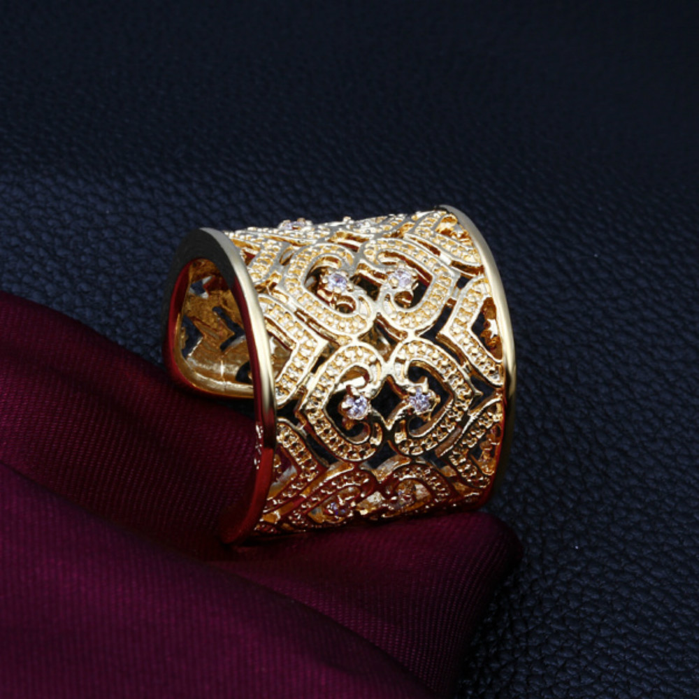 Gold Opening Thumb Rings Plated Silver For Women Fashion Style Girl Lady  Women Wedding Party Creative Gift Hot Sale
