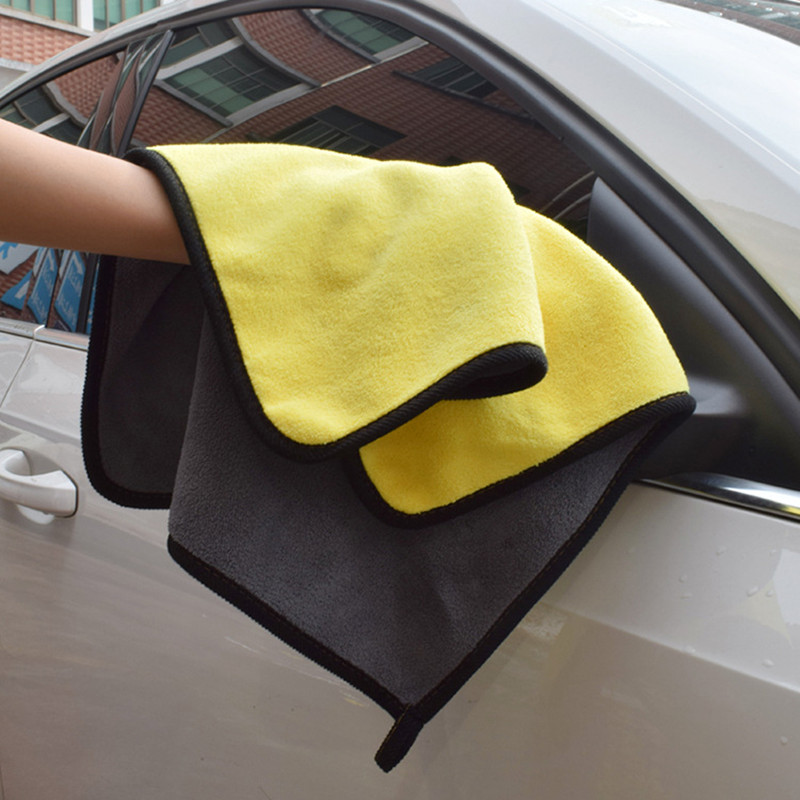 Car Paint Care Polishing Wash Towels Plush Microfiber Washing Drying Waxing Towel Car Cleaning Cloth Detailing Car Wash Towel