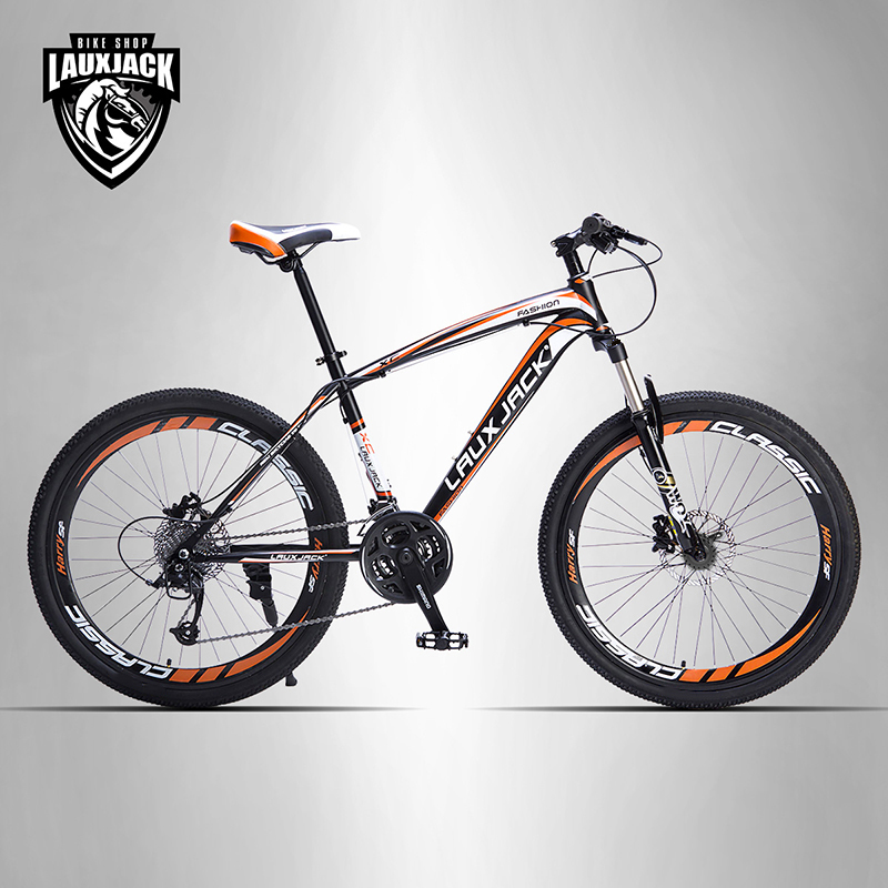 LAUXJACK Mountain bike steel frame 24 speed Shimano mechanical disc brakes 26 wheels mountain bike four perlin disc hubs 32 holes high quality lightweight flexible rotation bicycle hubs bzh002