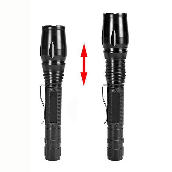 PANYUE 1000 Lumen LED Rechargeable Flashlight T6 XML Led Portable Zoomable 5 modes Adjustable Focus Tactical Flashlight Torch in LED Flashlights from Lights Lighting