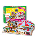 2014 new clever&happy land  3d puzzle model Fantastic Carousel  adult puzzle diy paper model educational toys paper