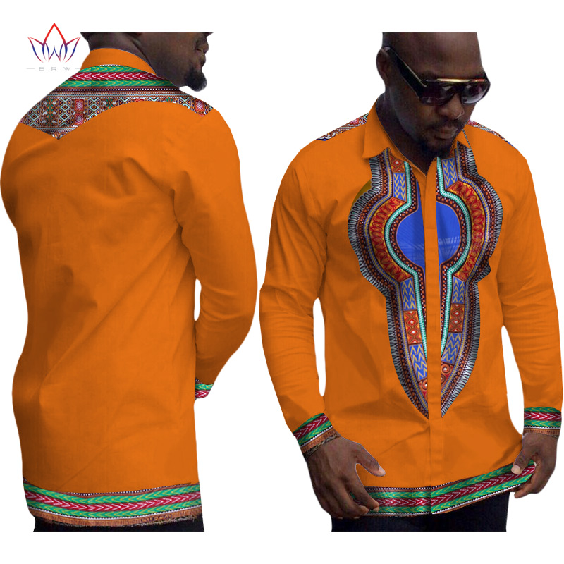 African Clothes for Men Mens Dress Shirt Dashiki Men Brand-Clothing Long Sleeve White Shirt Men Plus Size Clothing 6XL WYN152