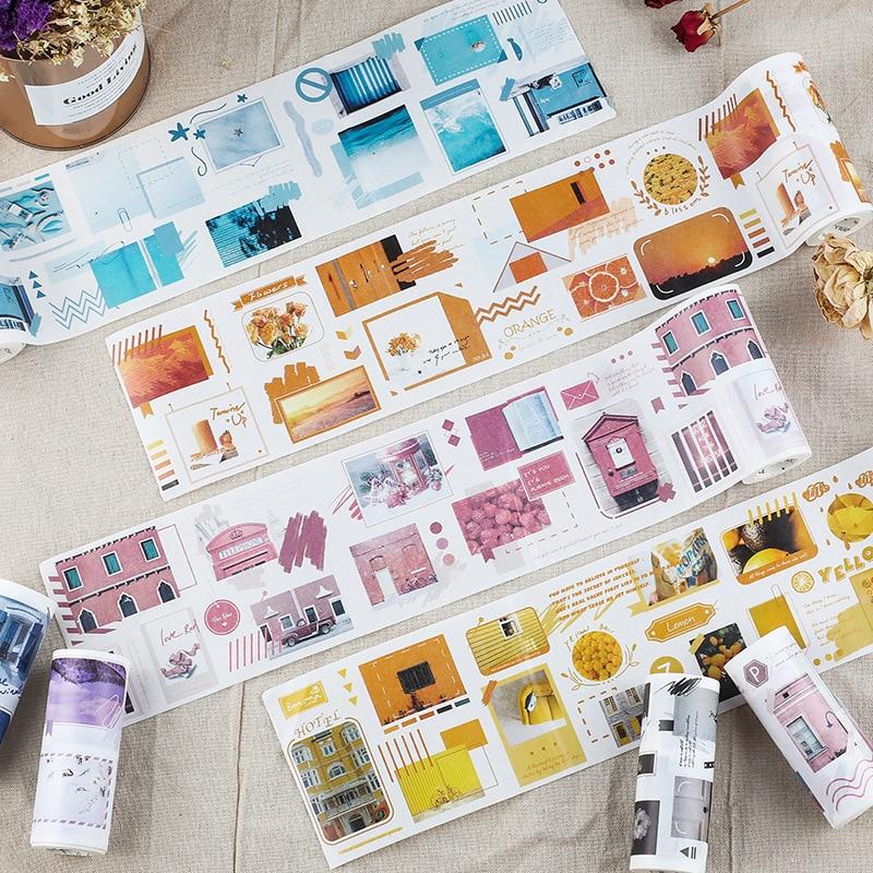 Photography Arts Washi Tape Set 10cm Wide Decorative Tape Paper Label Masking Sticker Tape