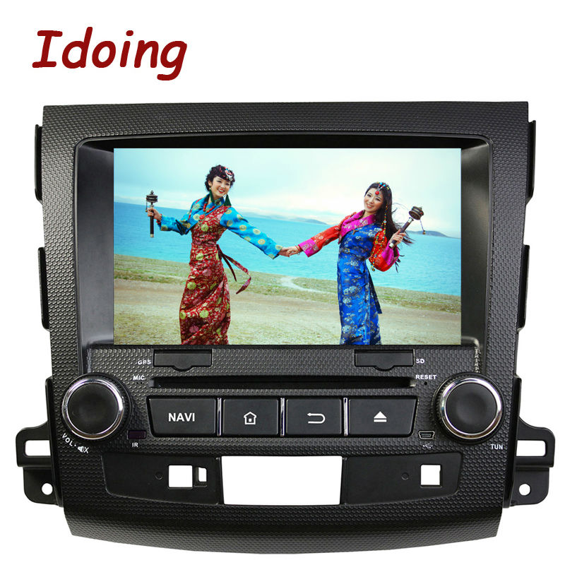 Idoing 2Din Steering Wheel Car DVD Player For Mitsubishi Outlander Android5 1GPS Navigation In dash Car