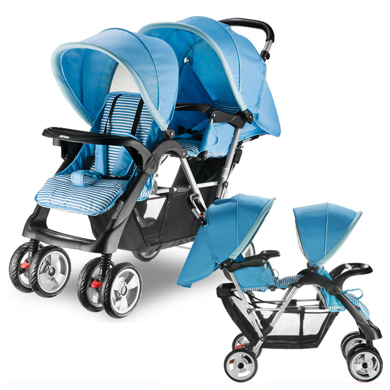 Twins Baby Stroller Double Baby Stroller for Twins Double Umbrella Baby Stroller 2 In 1 Travel System Car Pram Pushchair Buggy цена