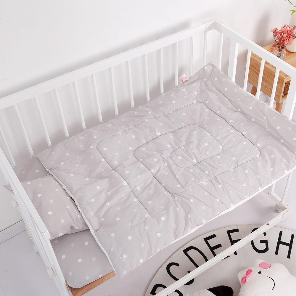 Детский бампер, защита для кровати, Младенческая кроватка, бампер для кровати, 4 шт., комплекты постельного белья для детей, включая простыню, подушка, одеяло, бампер - Цвет: gray 3pcs bed set