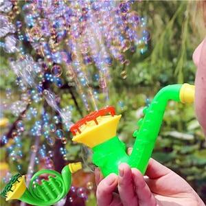 2018 Water Blowing Toys Random Color Bubble Gun Soap Bubble Blower Outdoor Child Toys New Creative polyporous Wedding Machine