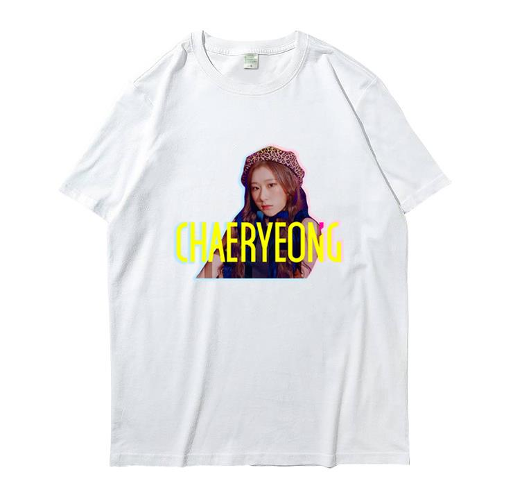 New arrival itzy member name/photo printing o neck short sleeve t shirt summer style kpop unisex white t-shirt