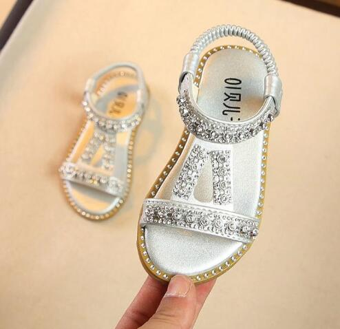 Girls Sandals Children Diamond For Kids Shoes New Summer Bowknot Princess