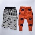 Мальчики Зимние брюки 2016 дети брюки Бобо выбирает зима Малышей Детские Девушки трикотажные брюки теплый свитер Мальчики гаремы брюки