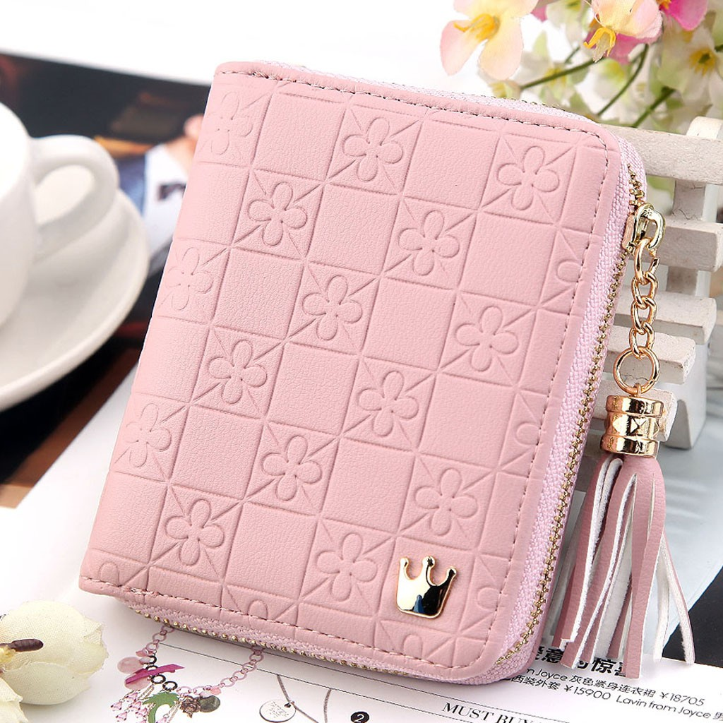 Womens Wallets And Purses Fashion Cute Leather Tassel Wallet Purse Clutch Girls Short Wallet Casual Ladies Coin Money Purse Card wallet