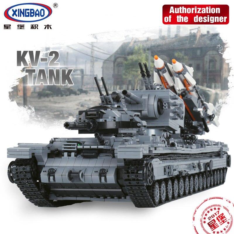 XingBao 06006 3663Pcs Creative MOC Military Series The KV-2 Tank Set children Educational Building Blocks Bricks Toys Model Gift the illusionists 2 0 2018 01 25t20 00