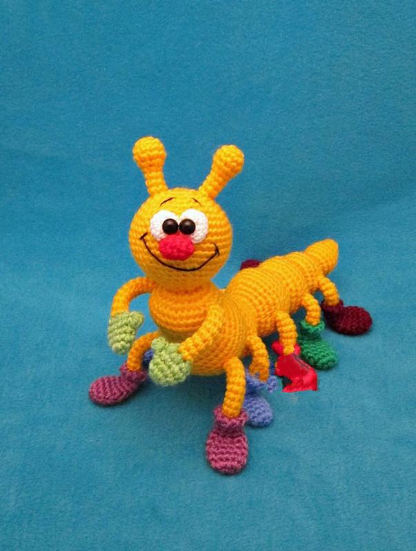 Crochet Toys  Amigurumi  Handmade  Insect Animal  Rattle  Doll   Model  Number  ES0120