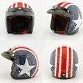 Calidad Del Hight ABS EE apoyo Retro Motocross Capacete Casco de Moto Cascos de Motos Capitán América XY01