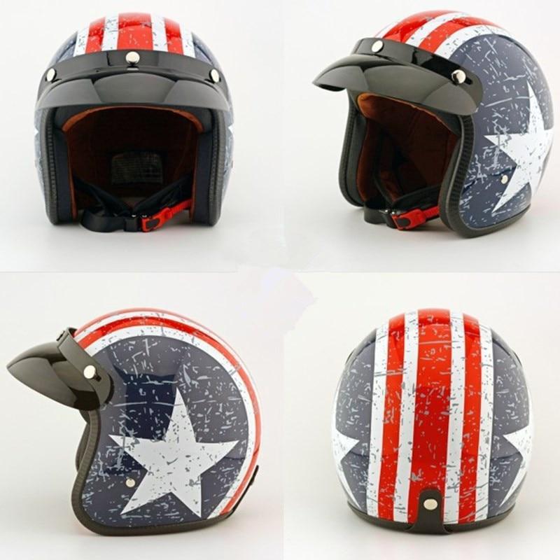 EE support Hight Quality ABS Retro Motocross Motorcycle Helmet Motos Helmets Capacete Captain America XY01