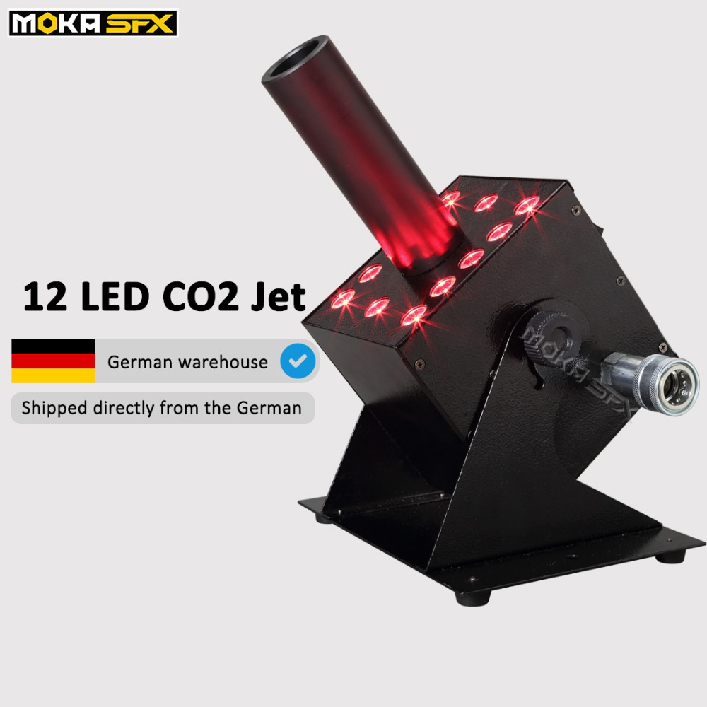 Shipping From Germany Warehouse NO TAX Stage Professional RGB 3 IN 1 LED Co2 Jet Machine Co2 Gas Jet 10m