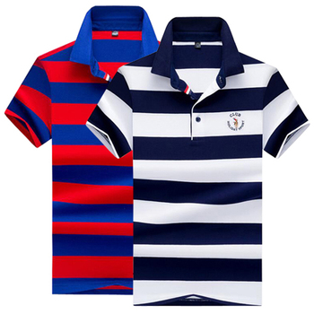 2020 NEW Polo shirt High quality brand striped Casual men polo Summer cotton male Branded clothing
