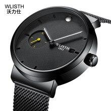 лучшая цена New men's steel mesh belt quartz men's watch small seconds waterproof watch watch male