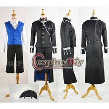 Custom Made Men's Costume Black Butler Ciel Phantomhive Black Vintage Suit Cosplay Costume for Carnival Cosplay Party