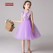 e2deefca26 JaneyGao Vestidos Para Festa de Casamento Da Menina de Flor Crianças  Formais Crianças Vestido De Verão