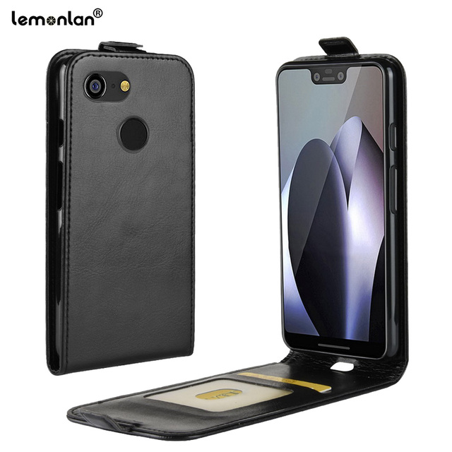 online store 52786 ae321 US $4.99 |Lemonlan For Google Pixel 3 2 Phone Case Crazy Horse Filp  Vertical Magnetic Protective Cover for Google Pixel 3 2 XL 2xl Shell-in  Flip Cases ...
