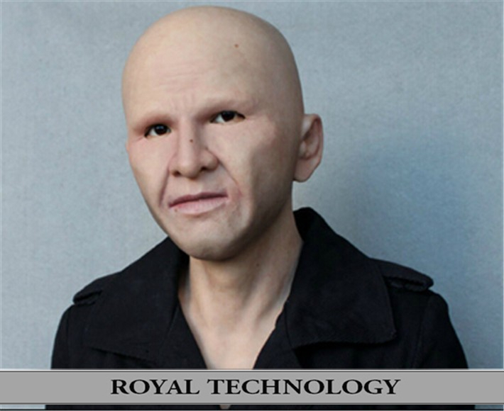 SN-2 2015 New silicone true people mask realistic latex face CD - Royal Material Technology Co., Ltd store