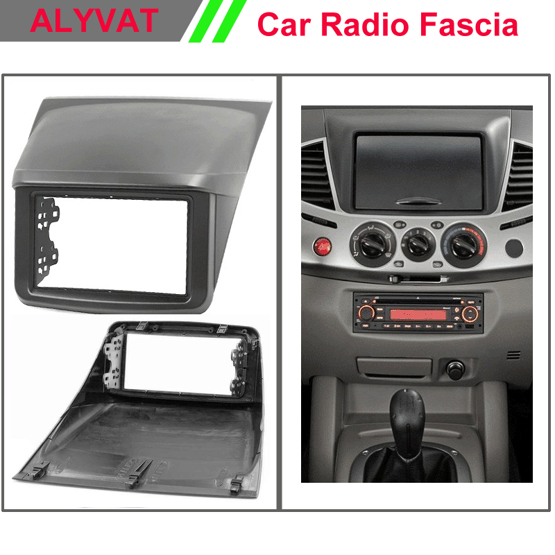 Top Quality Car Radio Fascia for MITSUBISHI L 200,Triton;Pajero Sport II;Pajero Fascia Dash CD Trim Installation Kit