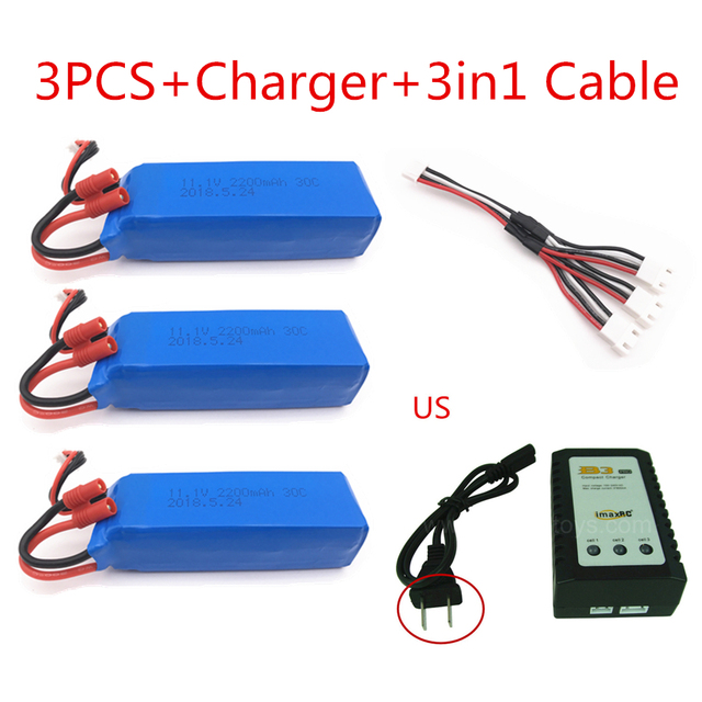 BATTERY FOR BAYANG BAYANGTOYS X16 X21 RC Quadcopter Spare Parts 11.1V 2200mAh Banana Battery For RC Camera Drone Accessories 1