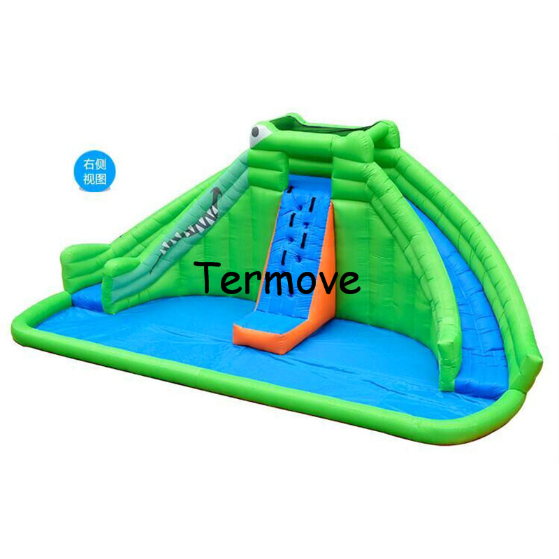inflatable castle slide and jump for kids Jumping House air jumping castle inflatable double lane water slide with pool