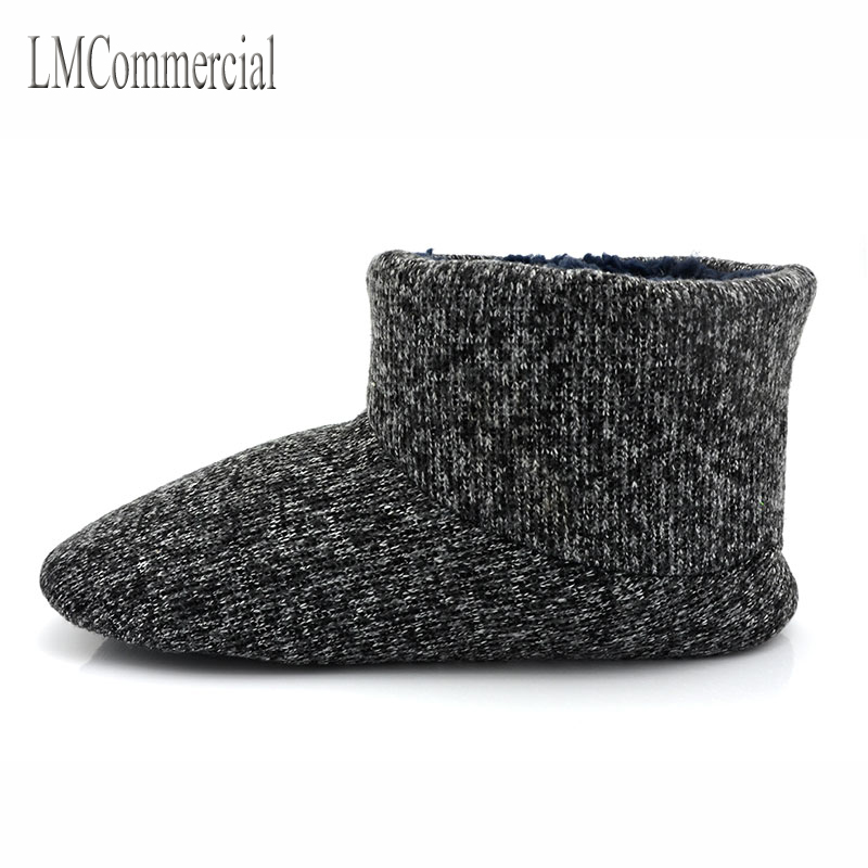 Foreign trade Home Furnishing wool shoes slippers indoor floor thickening and thermal insulation cotton slip boots size male sho