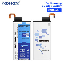 NOHON  2600mAh Lithium Rechargeable Phone Battery For Samsung Galaxy S6 Edge G9250 G925FQ G925S EB-BG925ABEBatteries Free Tools