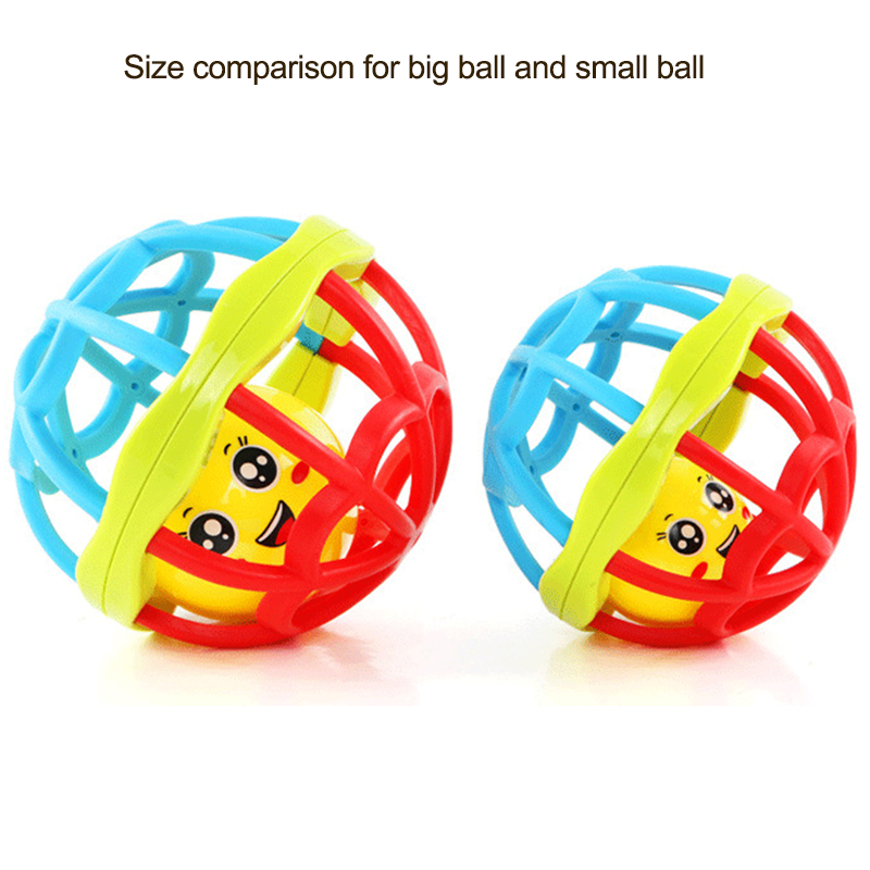 Baby handbell newborn boys girls infant soft cute juguetes de bebes toys 12 months soft plastic grasp jingle ring ball stroller